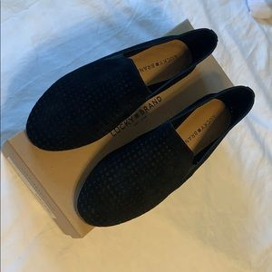 Lucky Brand Cow Split Black Suede size 8.5